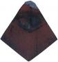 Clay diamond bonnet tile